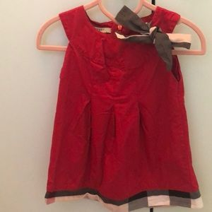 Other - Adorable red dress with plaid trimming
